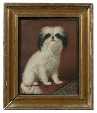 Dog portrait by Julius Hamburger