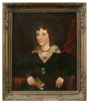 19th century three-quarter portrait,