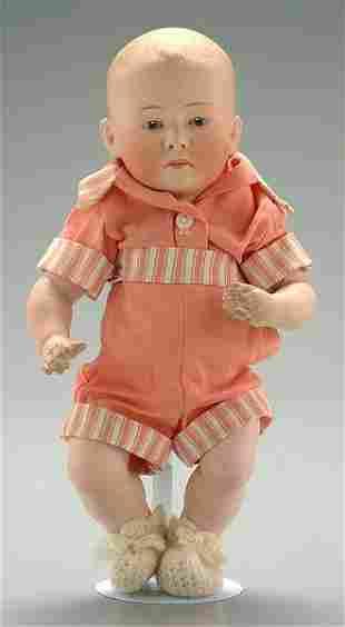 Bisque head boy doll,