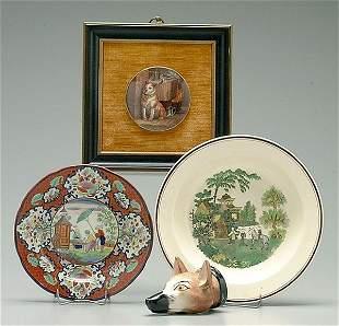 Four pieces English ceramics