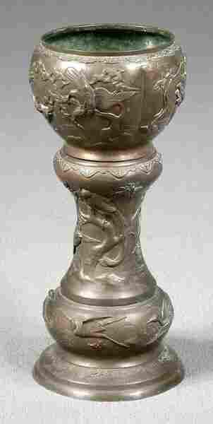 Oriental brass planter,