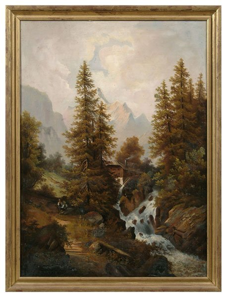 0604A: 19th century landscape painting,