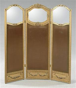 Three panel French style screen,