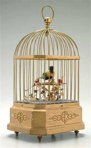 Singing bird in case,