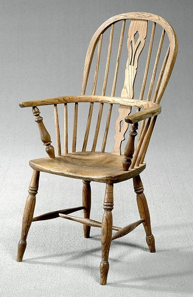608: English Windsor style chair,