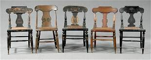 Five 19th century American chairs