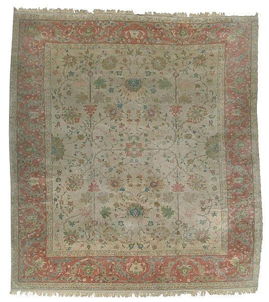 614: Modern Oushak rug,