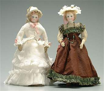646: Two bisque head dolls: