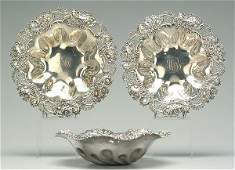 794 Three similar sterling silver bowls