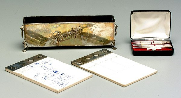 603: Sterling silver bridge accessories: