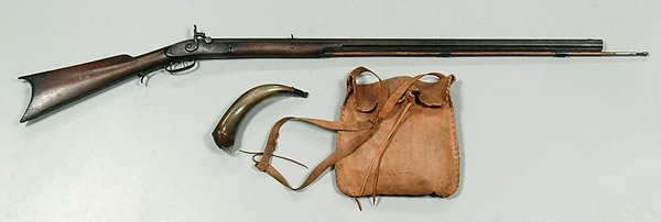 616: Half-stock maple Penn. squirrel rifle,