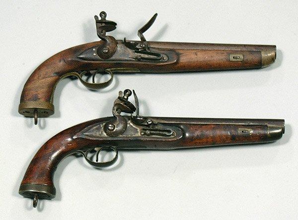 0618D: Pair flintlock pistols,