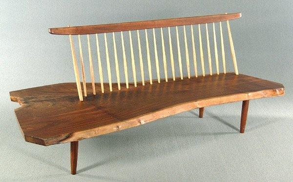 757: George Nakashima bench,