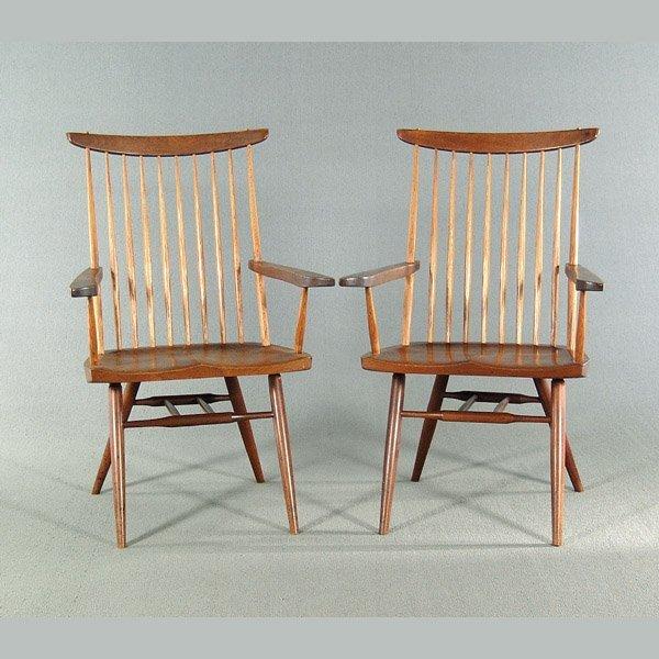 759: George Nakashima dining chairs,
