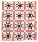 0790B Eightpoint feathered star quilt