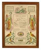 Fraktur for Elias Schafer,