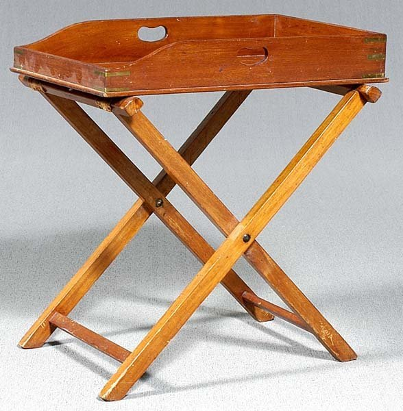 3: Mahogany butler's tray and stand,