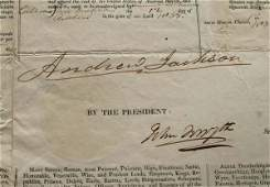 170 Andrew Jackson signed ships paper