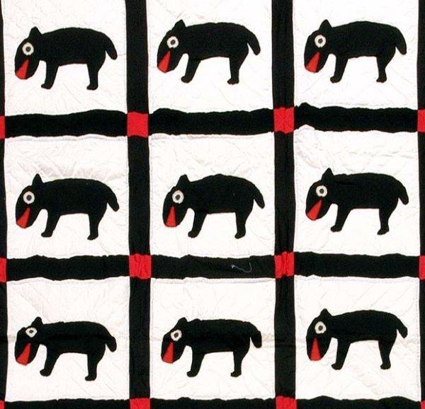 600: Adkins appliquéd quilt,