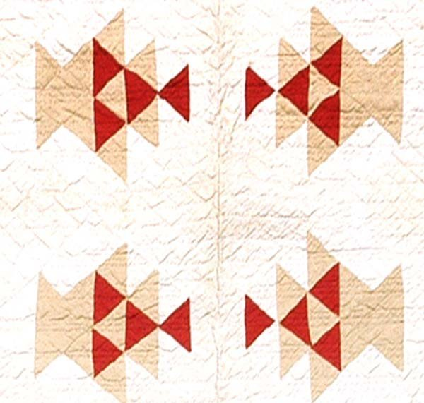 601: Hand-stitched and pieced quilt,