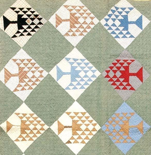 606: Pieced quilt,