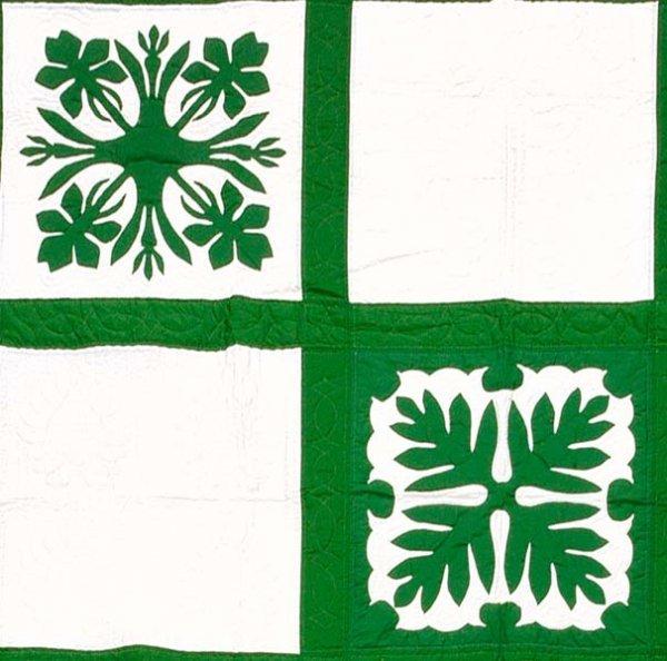 607: Appliquéd quilt,