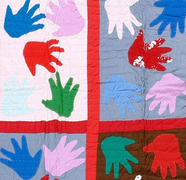 609: Sarah Taylor appliquéd quilt,