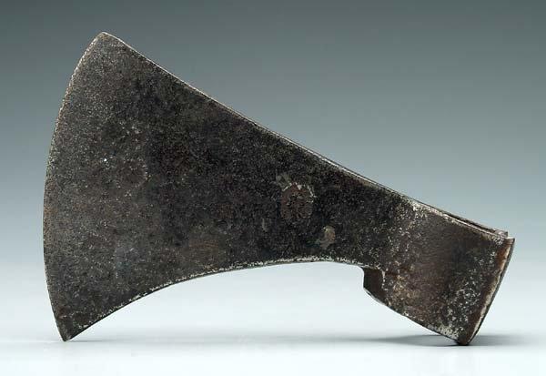 615: Hand-forged axe head,