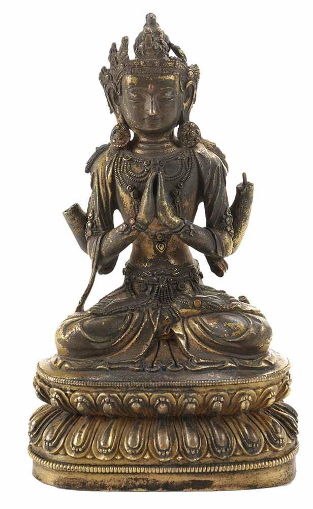 Gilt Bronze Seated Buddha