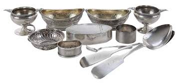Eleven Pieces Silver Table Items
