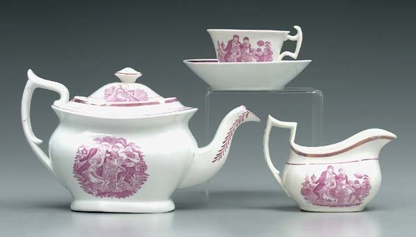 11: Lusterware tea service: