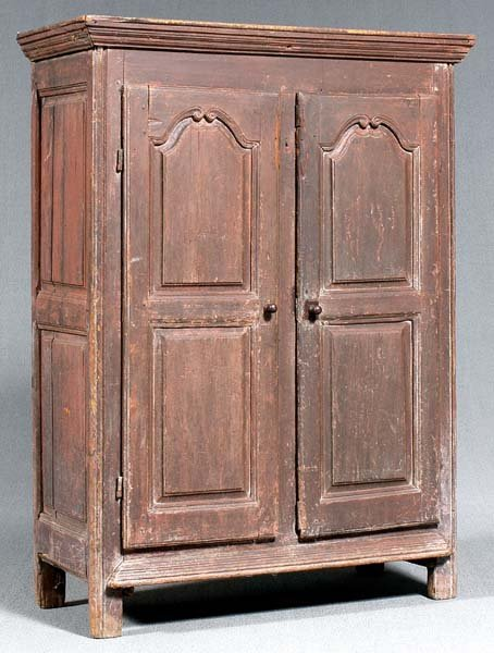 14: French Provincial painted cupboard,