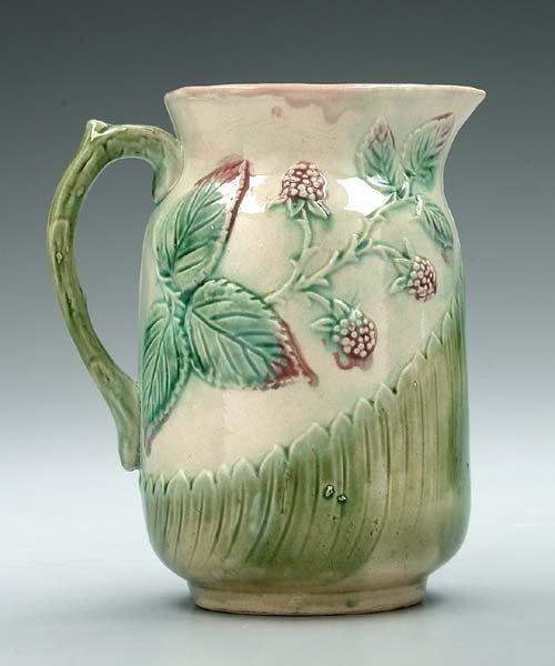624: Majolica pitcher,