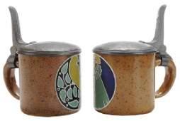 Two Rare Steins by Reinhold Merkelbach