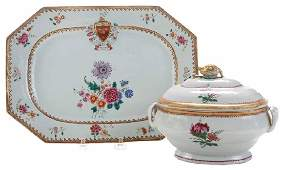 Two Chinese Export Famille Rose Table