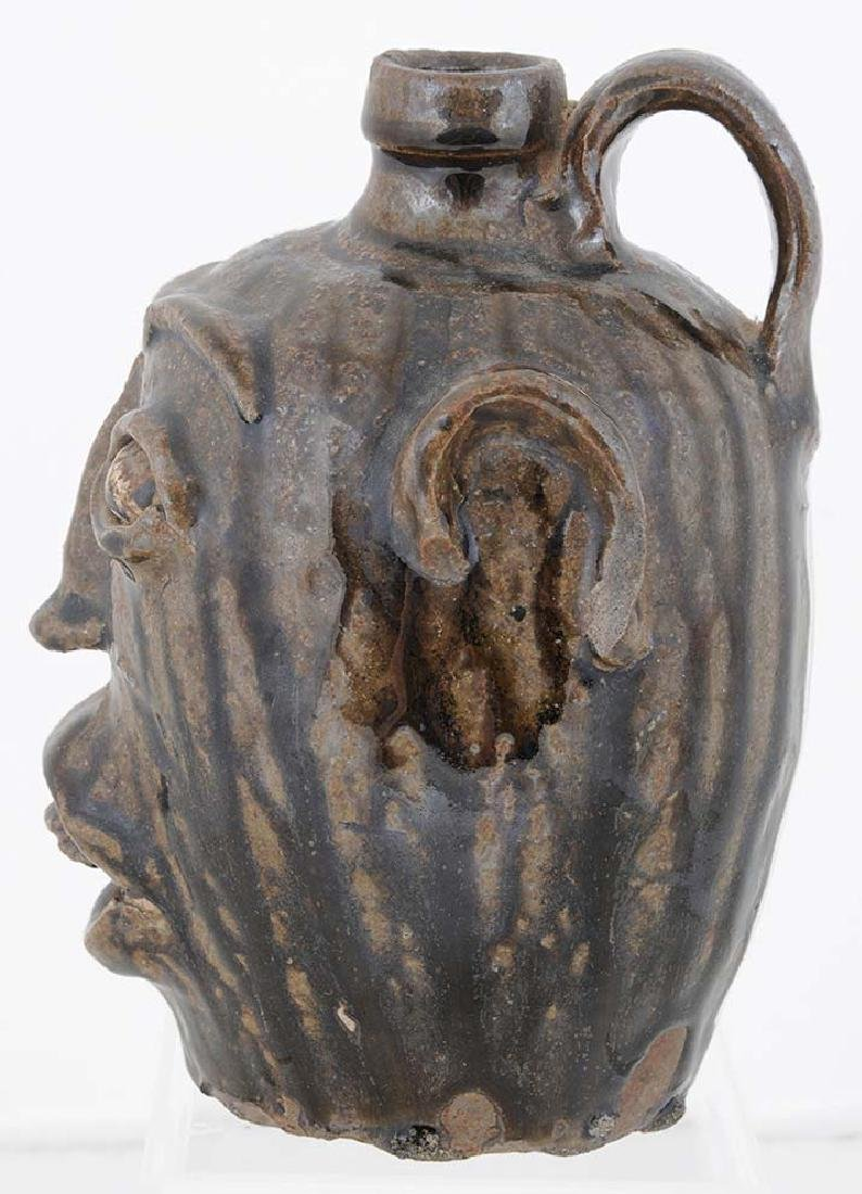 Rare Edgefield Stoneware Face Jug - 2