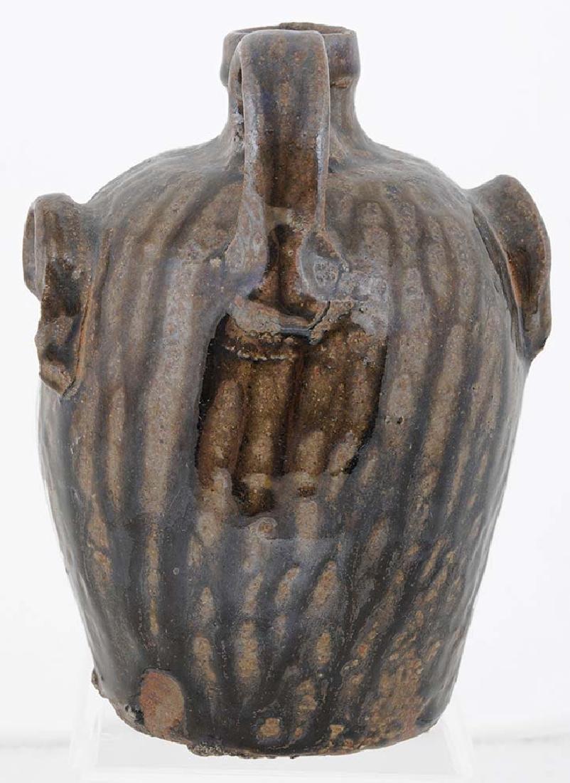 Rare Edgefield Stoneware Face Jug - 3