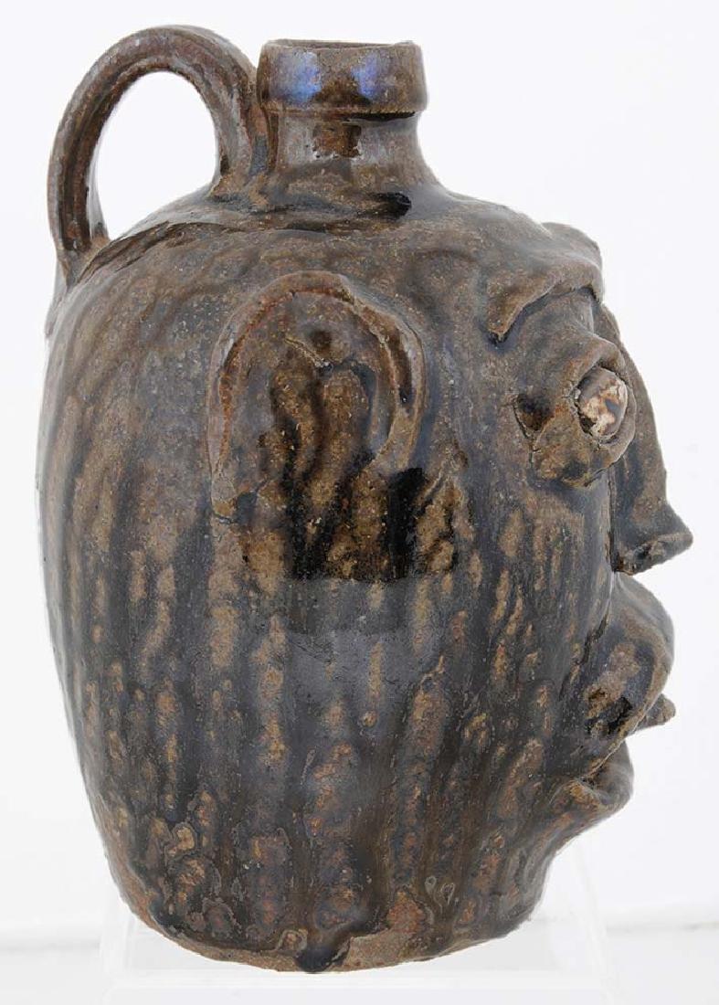 Rare Edgefield Stoneware Face Jug - 4