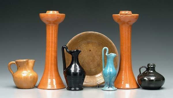 2: Seven pieces North Carolina pottery: