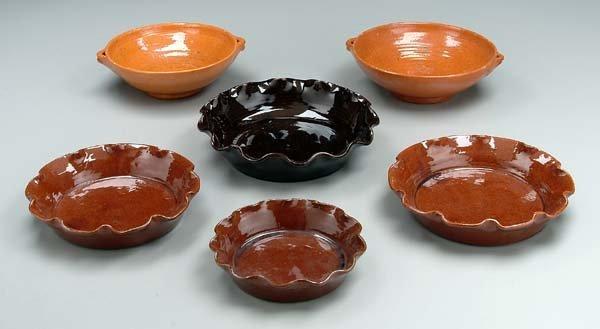 8: Six Jugtown pottery bowls: