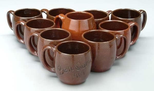 20: Ten Jugtown and Ben Owen mugs: