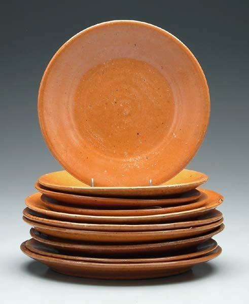 21: Ten Jugtown plates: