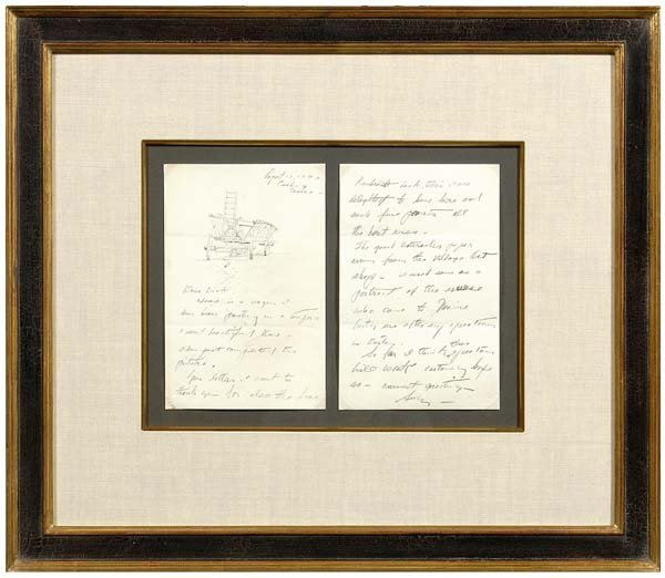 83: Andrew Wyeth illustrated letter