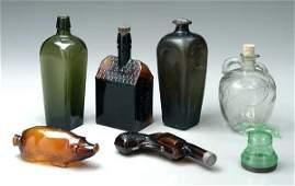 211 Seven bottles flasks