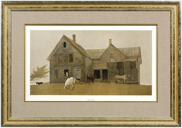 235: Andrew Wyeth signed collotype