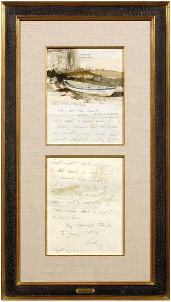 259: Andrew Wyeth illustrated letter