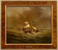 "371: Maritime painting signed ""J. Hobb"","