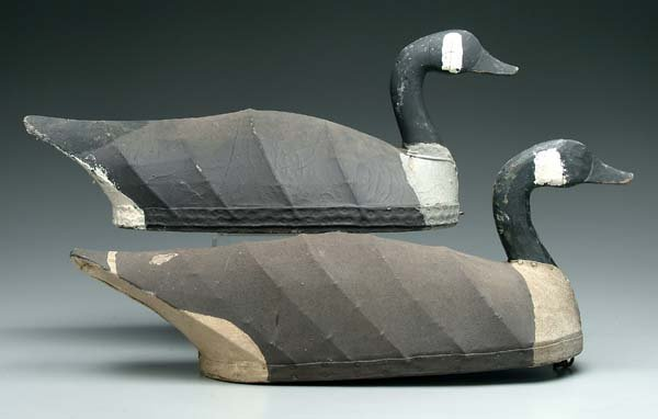 554: Two Mannie Haywood goose decoys: