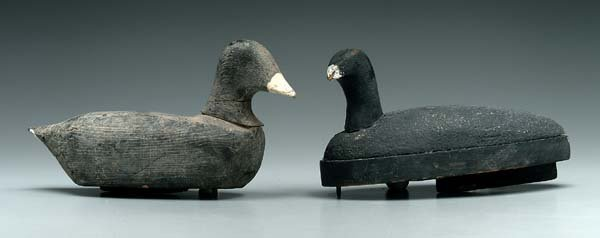 562: Two North Carolina coot decoys: