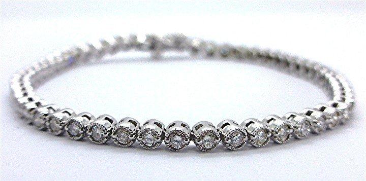 1.88ct Elegant Diamond 14K White Gold Tennis Bracelet